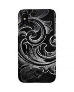 Black Flourish iPhone XS Max Lite Case