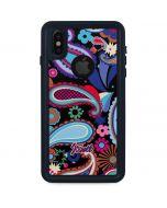 Black Paisley iPhone XS Waterproof Case