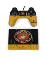 Black Yellow US Marine Corps PlayStation Classic Bundle Skin