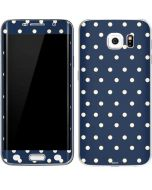 Blue and Cream Polka Dots Galaxy S6 Edge Skin