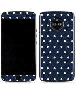 Blue and Cream Polka Dots Moto X4 Skin