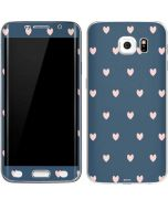 Blue and Pink Hearts Galaxy S6 Edge Skin