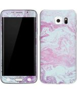 Blue and Purple Marble Galaxy S6 Edge Skin