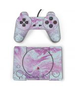 Blue and Purple Marble PlayStation Classic Bundle Skin