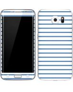 Blue and White Stripes Galaxy S6 Edge Skin