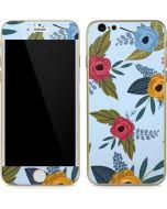 Blue Fall Flowers iPhone 6/6s Skin