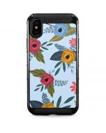 Blue Fall Flowers iPhone XS Max Cargo Case