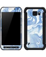 Blue Marbling Galaxy S6 Active Skin