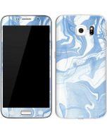 Blue Marbling Galaxy S6 Skin