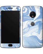 Blue Marbling Moto G5 Plus Skin