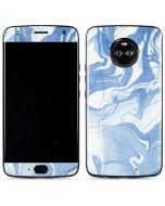 Blue Marbling Moto X4 Skin