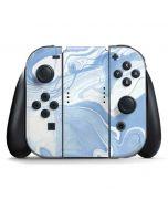Blue Marbling Nintendo Switch Joy Con Controller Skin