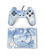 Blue Marbling PlayStation Classic Bundle Skin