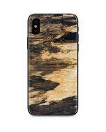 Blue Resin Wood iPhone XS Skin