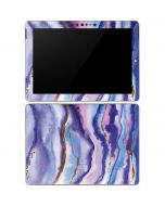 Blue Violet Watercolor Geode Surface Go Skin