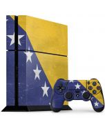 Bosnia and Herzegovina Flag Distressed PS4 Console and Controller Bundle Skin