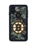 Boston Bruins Camo iPhone X Waterproof Case