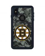 Boston Bruins Camo iPhone XS Waterproof Case