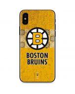 Boston Bruins Vintage iPhone XS Skin