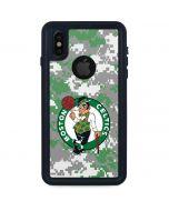 Boston Celtics Digi Camo iPhone X Waterproof Case