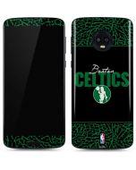 Boston Celtics Elephant Print Moto G6 Skin