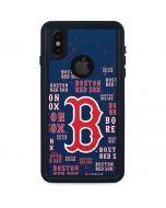 Boston Red Sox - Cap Logo Blast iPhone X Waterproof Case
