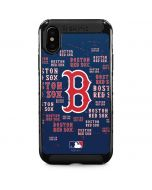 Boston Red Sox - Cap Logo Blast iPhone XS Max Cargo Case