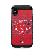 Boston Red Sox - Red Primary Logo Blast iPhone XS Max Cargo Case