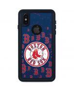 Boston Red Sox - Secondary Logo Blast iPhone X Waterproof Case