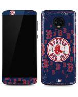 Boston Red Sox - Secondary Logo Blast Moto G6 Skin