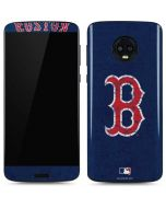 Boston Red Sox - Solid Distressed Moto G6 Skin
