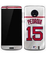 Boston Red Sox #15 Dustin Pedroia Moto G6 Skin