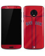 Boston Red Sox Alternate/Away Jersey Moto G6 Skin