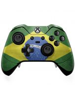 Brazil Flag Distressed Xbox One Elite Controller Skin