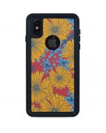 Bright Fall Flowers iPhone XS Waterproof Case