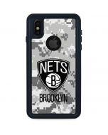 Brooklyn Nets Digi Camo iPhone XS Waterproof Case
