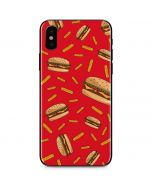 Burgers and Fries iPhone X Skin