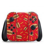 Burgers and Fries Nintendo Switch Joy Con Controller Skin