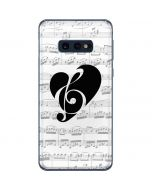 BW Musical Notes Galaxy S10e Skin