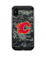 Calgary Flames Camo iPhone XS Max Cargo Case