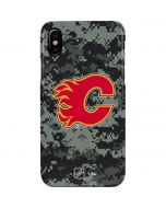 Calgary Flames Camo iPhone XS Max Lite Case
