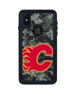 Calgary Flames Camo iPhone XS Waterproof Case