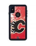 Calgary Flames Frozen iPhone XS Waterproof Case