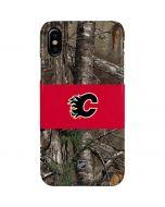 Calgary Flames Realtree Xtra Camo iPhone XS Max Lite Case