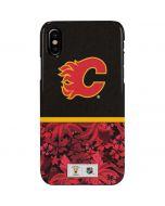 Calgary Flames Retro Tropical Print iPhone XS Max Lite Case