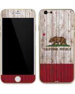 California Flag Dark Wood iPhone 6/6s Skin