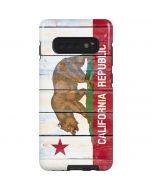 California Flag Light Wood Galaxy S10 Plus Pro Case