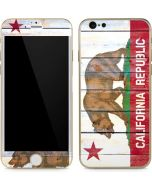 California Flag Light Wood iPhone 6/6s Skin