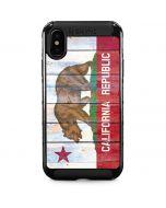 California Flag Light Wood iPhone XS Max Cargo Case