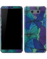 California Watercolor Butterflies LG G6 Skin